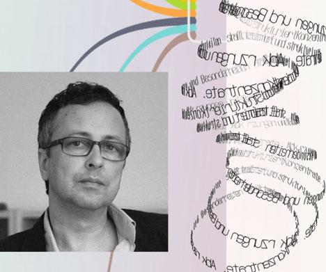 Fotografie Matthias Ring, Agenturinhaber IconScreen; die Fotografie ist calloagiert mit Textelementen und Auszügen einer SiteMap