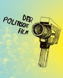 illustrierte Super8 Filmkamera, als Kugelschreiber Strichzeichnung; Hintergrund Kinopublikum abstraktiert.