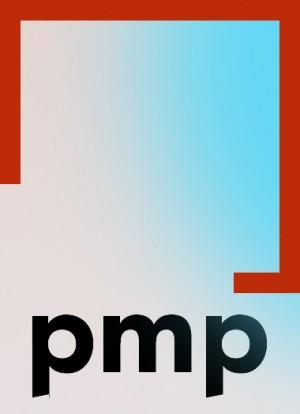 PMP Architekten; Logo auf Farbverlauf.