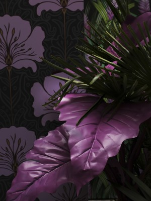 Kunstblumen Bouquet aus lila farbigen Pfingstrosen