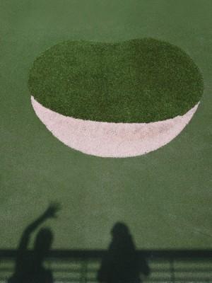 auf dem Grün ist das Loch