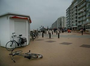 Tristtese im belgischem Ostende an der Strandpromenade
