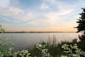 Die Elbe bei Blankenese im Abendlicht