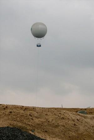 Heissluftballon über Sandgrube