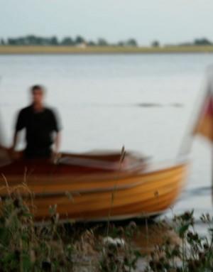 Tucker-Boot auf der Elbe bei Blankenese